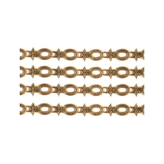 "Antique Gold Dresden Star and Frame Trim ~ 1/4"" wide"