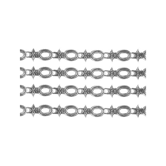"""Silver Dresden Star and Frame Trim ~ 1/4"""" wide"""