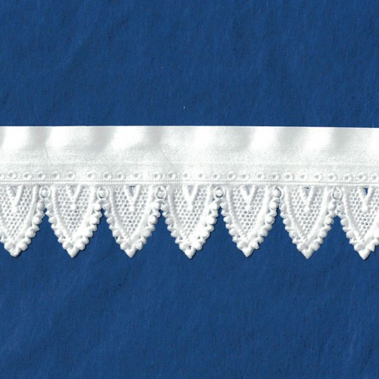 "White Paper Lace Dresden Gothic Scalloped Trim ~ 1-1/4"" wide"