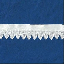 """White Paper Lace Dresden Gothic Scalloped Trim ~ 1"""" wide"""