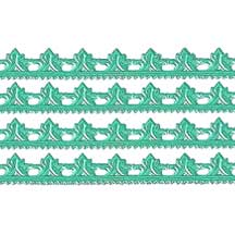 "Aqua Dresden Scrolled Point Trim ~ 5/16"" wide"