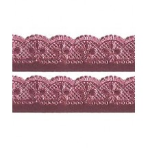 "Pink Dresden Scalloped Flower Trim ~ 7/8"" wide"