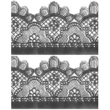 "Silver Dresden Lattice and Scallop Wide Trim ~ 1-3/4"" wide"