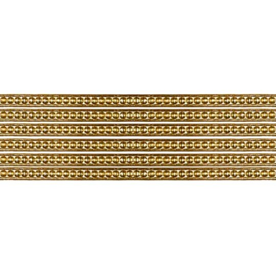 "Super Petite Antique Gold Rasied Dot Dresden Trim ~ 1/8"" wide"