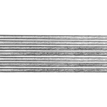 "Super Petite Silver Ribbed Dresden Trim ~ 1/8"" wide"