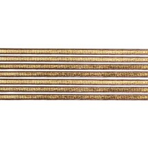 "Super Petite Antique Gold Ribbed Dresden Trim ~ 1/8"" wide"