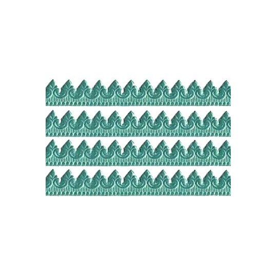 "Aqua Extra Fancy Dresden Baroque Trim ~ 3/8"" wide"