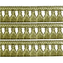 "Gold Fringed Tassel Dresden Trim ~ 5/8"" wide"