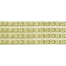 """Gold Leaf and Berry Dresden Foil Trim ~ 3/16"""""""