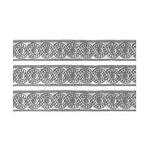 "Silver Dresden Foil Scrolled Dot Trim ~ 5/16"" wide"
