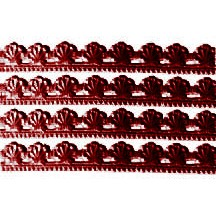"Burgundy Dresden Scallop Shell Trim ~ 3/8"" wide"