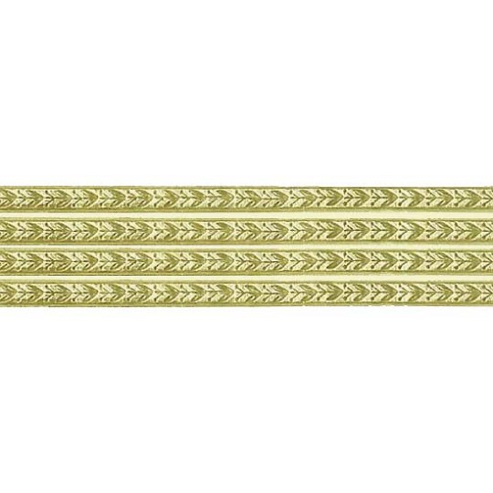 Gold Leaf and Berry Dresden Foil Trim ~ 3/16""