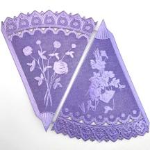 Light Purple Dresden Foil Floral Cornucopia Cones ~ 2