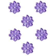Light Purple Dresden Foil Flowers ~ 102