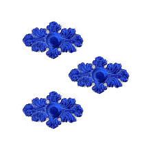 Dark Blue Dresden Foil Ornate Flourishes ~ 14