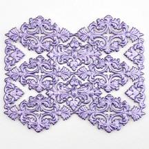 Light Purple Dresden Foil Ornate Flourishes and Corners ~ 12