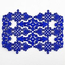 Dark Blue Dresden Foil Celtic Flourishes  and Corners ~ 12