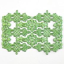 Light Green Dresden Foil Celtic Flourishes and Corners ~ 12