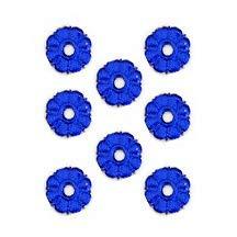 Dark Blue Dresden Foil Button Medallions~ 20