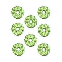 Light Green Dresden Foil Button Medallions ~ 20