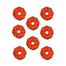 Red Dresden Foil Button Medallions ~ 20
