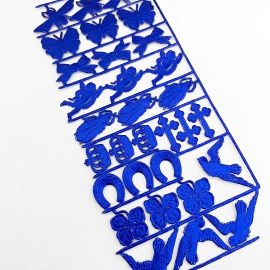 Dark Blue Dresden Foil Spring Mix