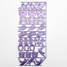 Light Purple Dresden Foil Spring Mix