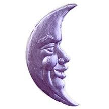 Light Purple Dresden Foil Smiling Moons ~ 23