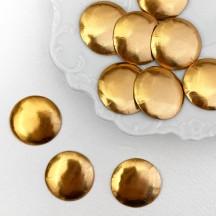 """Antique Gold Dresden Foil Buttons ~ 3/4"""" across ~ 10 pieces"""