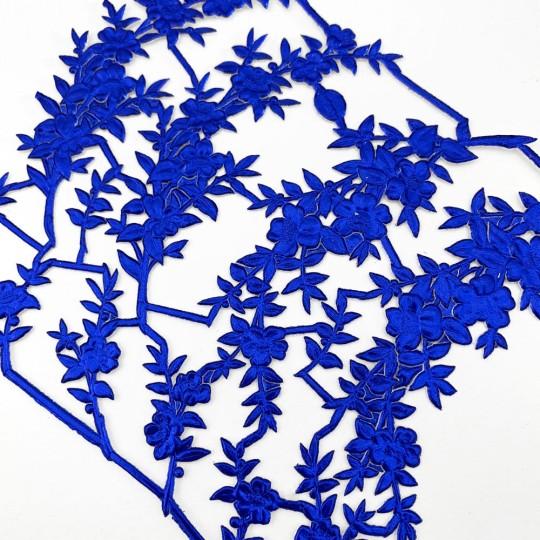 Fancy Dark Blue Dresden Foil Myrtle Branches and Sprigs ~ 12 Asst.