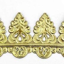 "Gold Dresden Fancy Flourish Wide Border Trim ~ 2"" tall"
