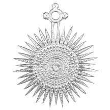 Large Silver Dresden Foil Fancy Filigree Star Ornaments ~ 8