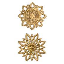 Antique Gold Dresden Foil Snowflakes or Halos ~ 8 Asst.