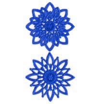 Dark Blue Dresden Foil Snowflakes or Halos ~ 8 Asst.
