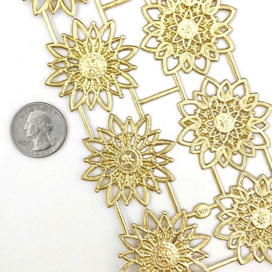 Gold Dresden Foil Snowflakes or Halos ~ 8 Asst.