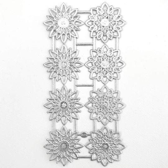 Silver Dresden Foil Snowflakes or Halos ~ 8 Asst.
