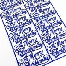 Petite Dark Blue Merry Christmas Scripts ~ 12