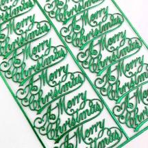 Petite Green Merry Christmas Scripts ~ 12