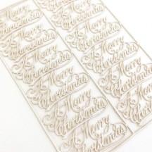 Petite Antique White Merry Christmas Scripts ~ 12