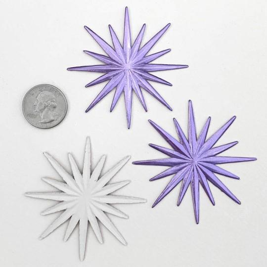 Small Celestial Light Purple Dresden Foil Halo ~ 3
