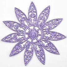 Large Fancy Filigree Light Purple Foil Dresden Snowflakes or Halos ~ 2