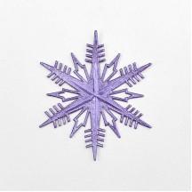 Petite Classic Light Purple Dresden Foil Snowflakes ~ 3