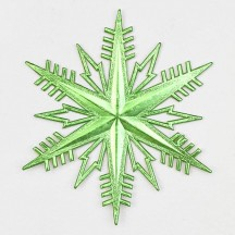 Classic Light Green Dresden Foil Snowflakes ~ 2
