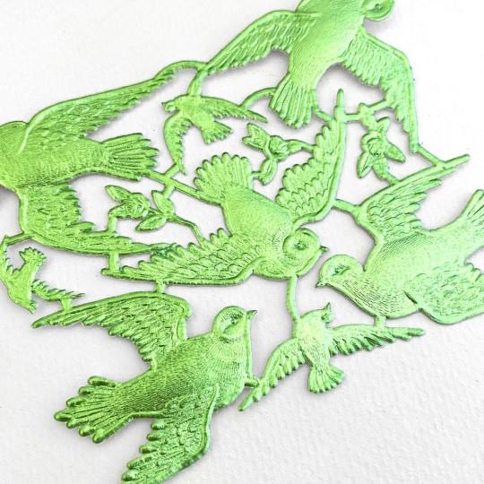 Light Green Paper Dresden Doves ~ 8 Asst.