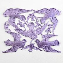 Light Purple Paper Dresden Doves ~ 8 Asst.