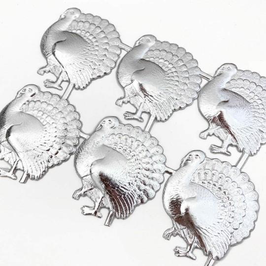 Silver Dresden Foil Turkeys ~ 6