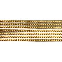 "Super Petite Antique Gold Rope Twist Dresden Trim ~ 1/16"" wide"