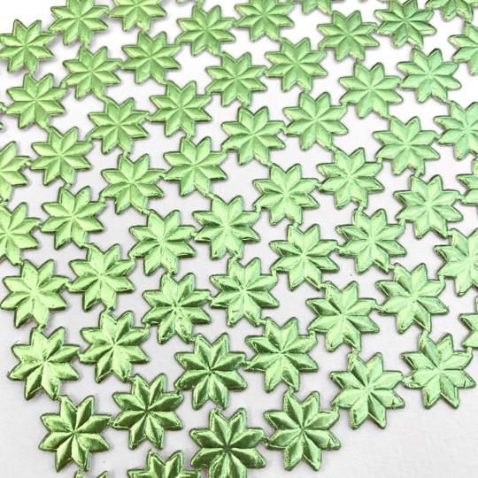 Medium Light Green Dresden Foil Stars ~ 72