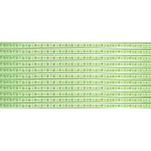 """Super Petite Light Green Flat Dot and Flower Dresden Trim ~ just under 1/8"""" wide"""