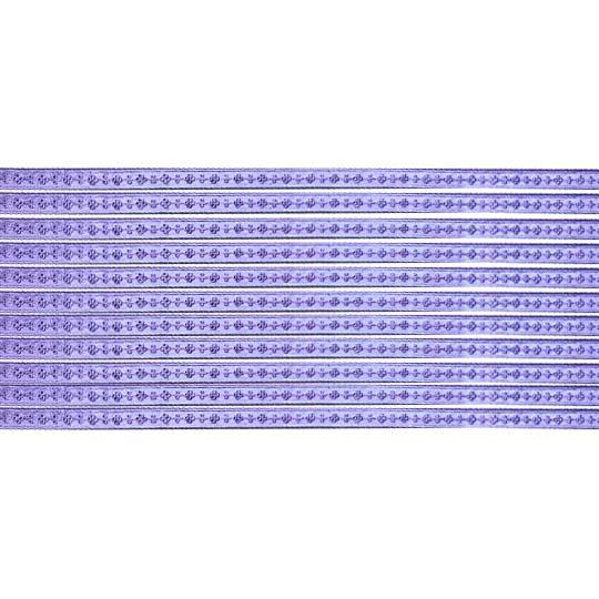 "Super Petite Light Purple Flat Dot and Flower Dresden Trim ~ just under 1/8"" wide"